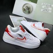 Giày thể thao Nike Air Force 1 Shadow trắng đỏ